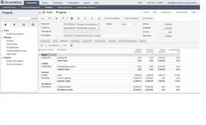 Acumatica Project Accounting