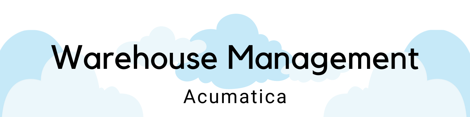 ICAN Warehouse Management Acumatica header